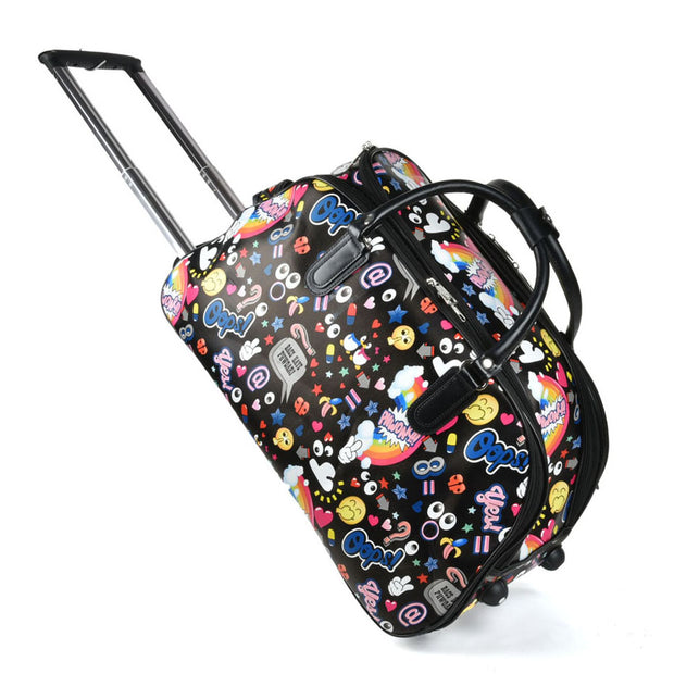 LG007 E -  Big Size The Cartoon Pattern Trolley Duffle Bag