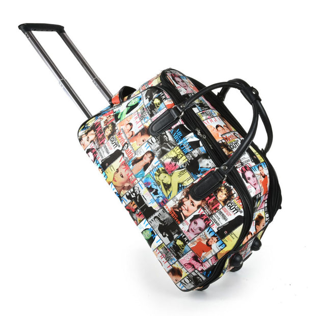 LG008 F -  Big Size Woman Pattern Trolley Duffle Bag