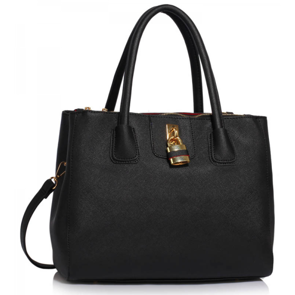 LS00195A - Black Three Zipper Grab Bag