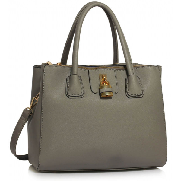 LS00195A - Grey Three Zipper Grab Bag