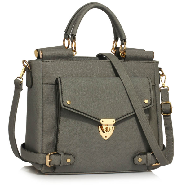 LS00237A - Grey Twist Lock Flap Grab Tote