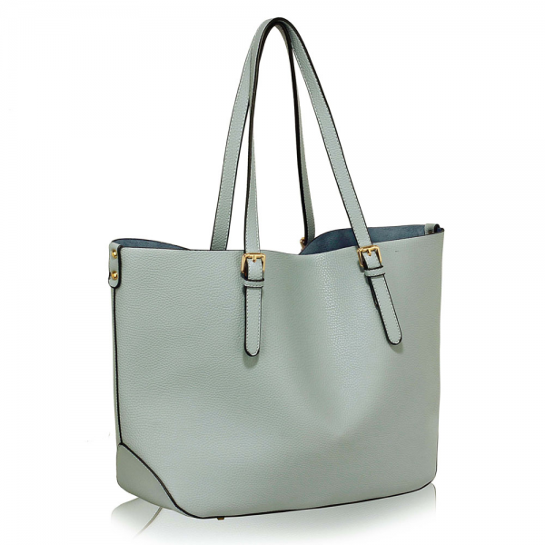 LS00265 - Blue Shoulder Bag With Removable Pouch