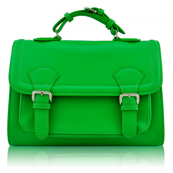 LS00274 - Classic Green Buckle Detail Fashion Satchel