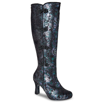 Stylish Vintage Women spirit knee-high boots with medium size heels shoe for day trips, parties, cocktails, and other functions