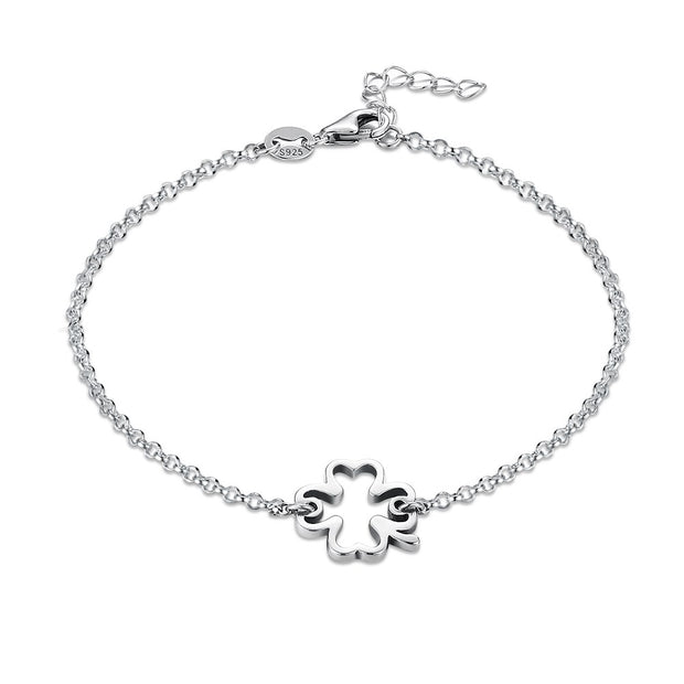 LEKANI S925 Sterling silver vintage classic hollow bracelet