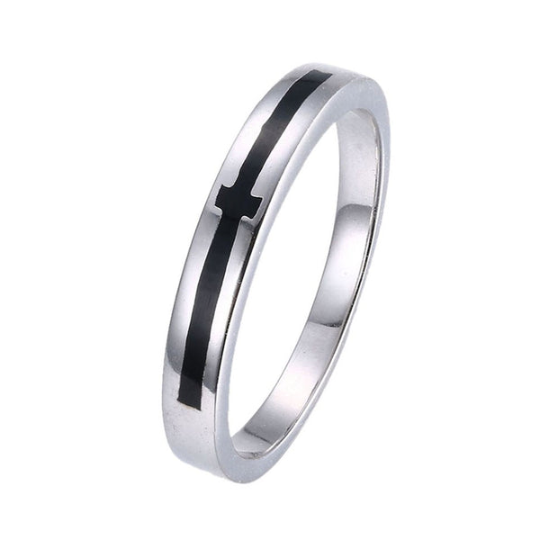 LKNQHS925R040 Simple classic ring white copper plated platinum ring