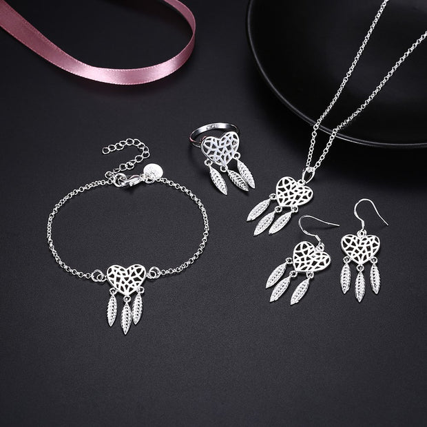 LKNSPCS940 Necklace eardrop ring bracelet 4 suit accessories wholesaler