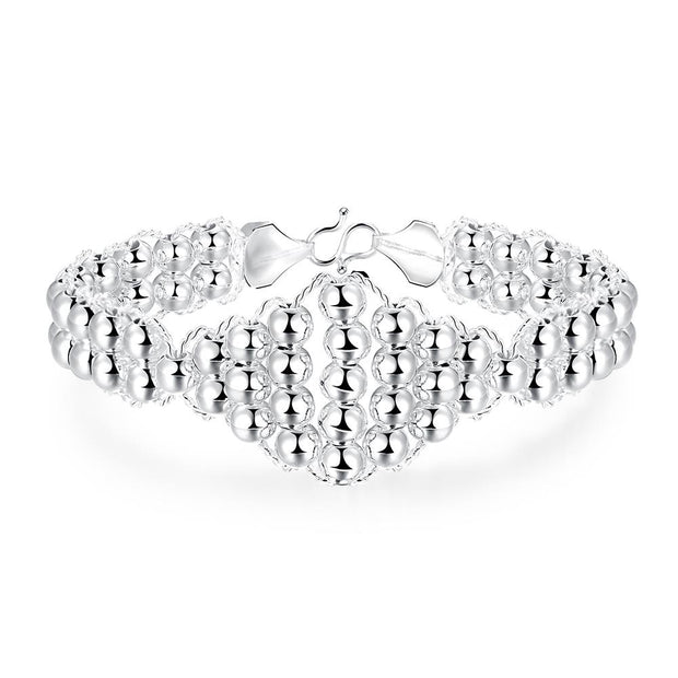 H398  Latest Women Classy Design  silver plated bracelet Factory Direct Sale