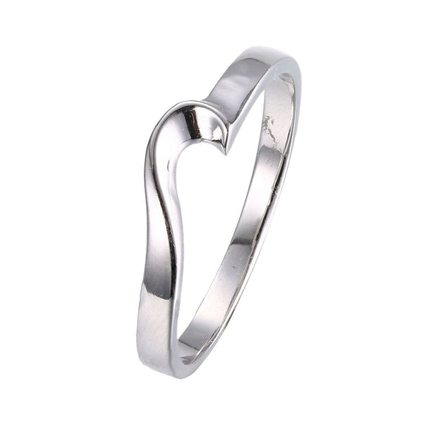 LKNQHS925R002 Simple classic ring white copper plated platinum ring
