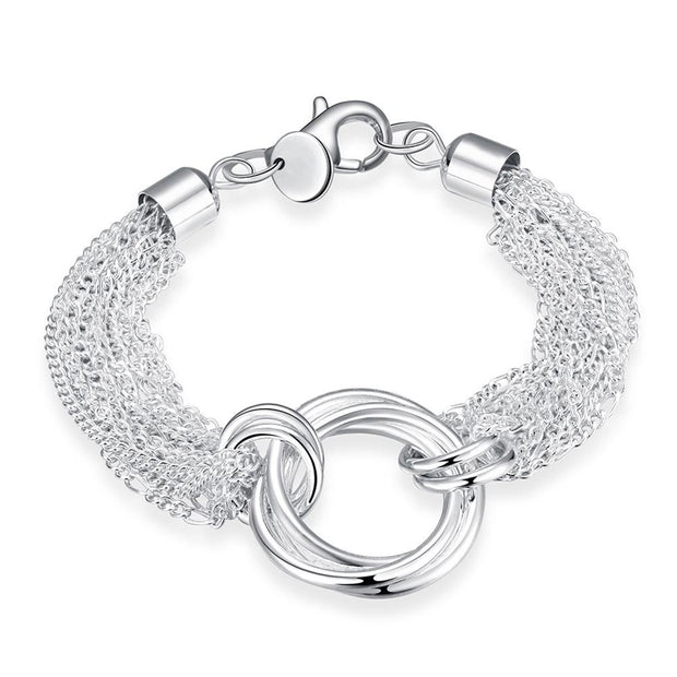 H299  Latest Women Classy Design  silver plated bracelet Factory Direct Sale