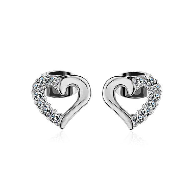 LKN18KRGPE1345 Fashion trend ear nails half drill heart