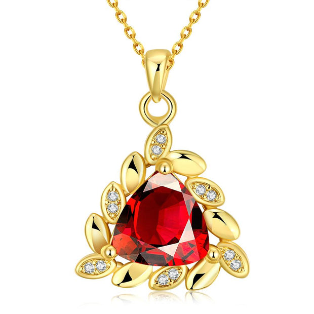 N0101-A High Quality zircon necklace Fashion Jewelry Free shopping 18K gold plating necklace