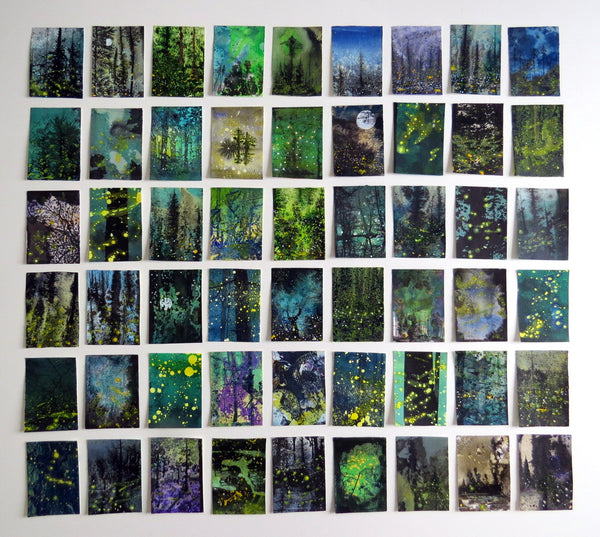 54 miniatures - Night woods bioluminescence