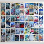 Unframed 54 minis Red dreaming of blue