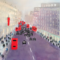 Red Buses and taxis, Piccadilly