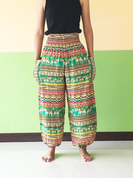 Green Ginnie Pants For Women - Yoga Pants
