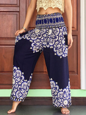 Navy Baggy Pants Plus Unisex - Yoga Pants
