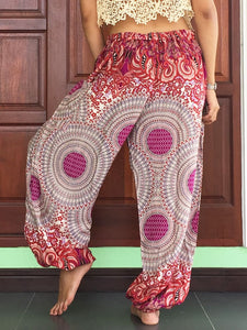 Pink Harem Women Boho Yoga Casual Trousers - Yoga Pants