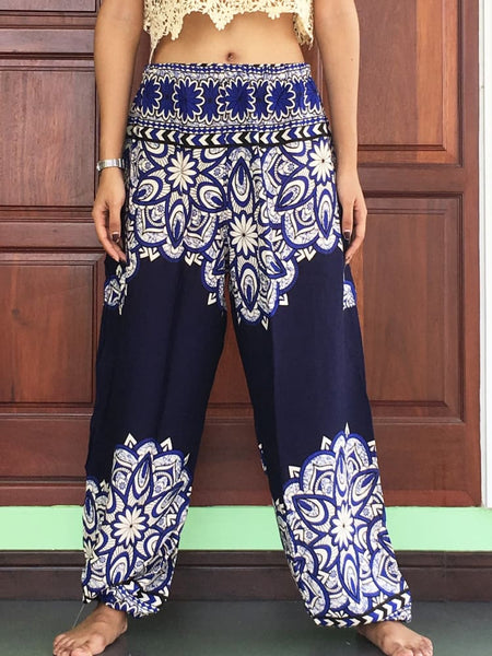 Plus Navy Boho Pants Unisex - Yoga Pants