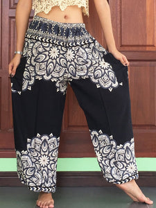 Plus Unisex Hippy Black Trousers - Yoga Pants