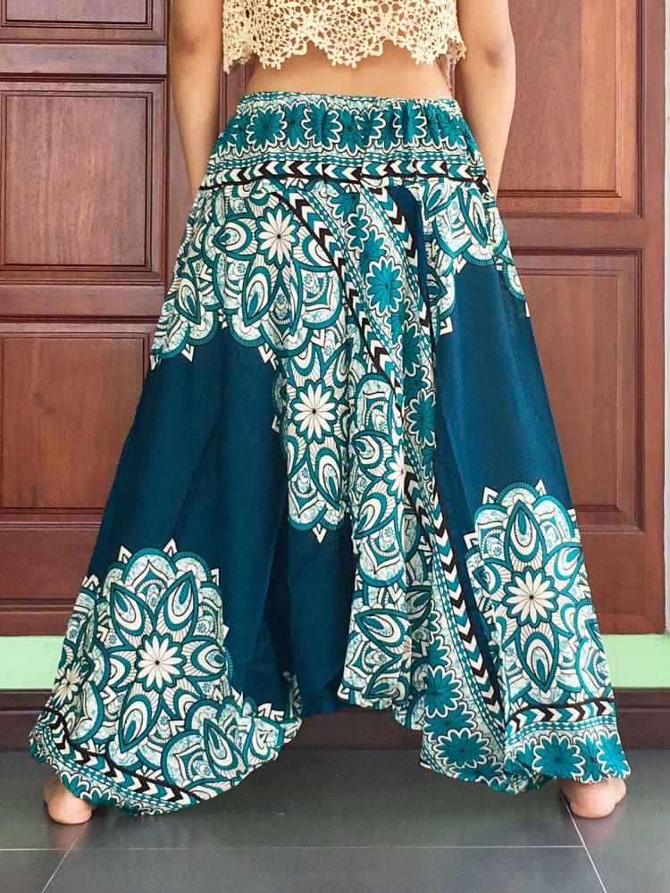 Plus Unisex Turquoise Harem Pants Aladdin Hippie Trousers - Harem Pants