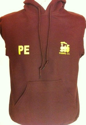 Pannal Senior Burgundy Hooded Top