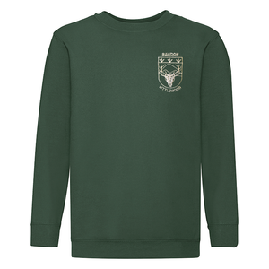 Rawdon Littlemoor Green Sweatshirt with Logo V or Round Neck