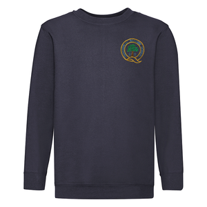 Queensway Primary School Embroidered Sweatshirt (Navy) with Logo