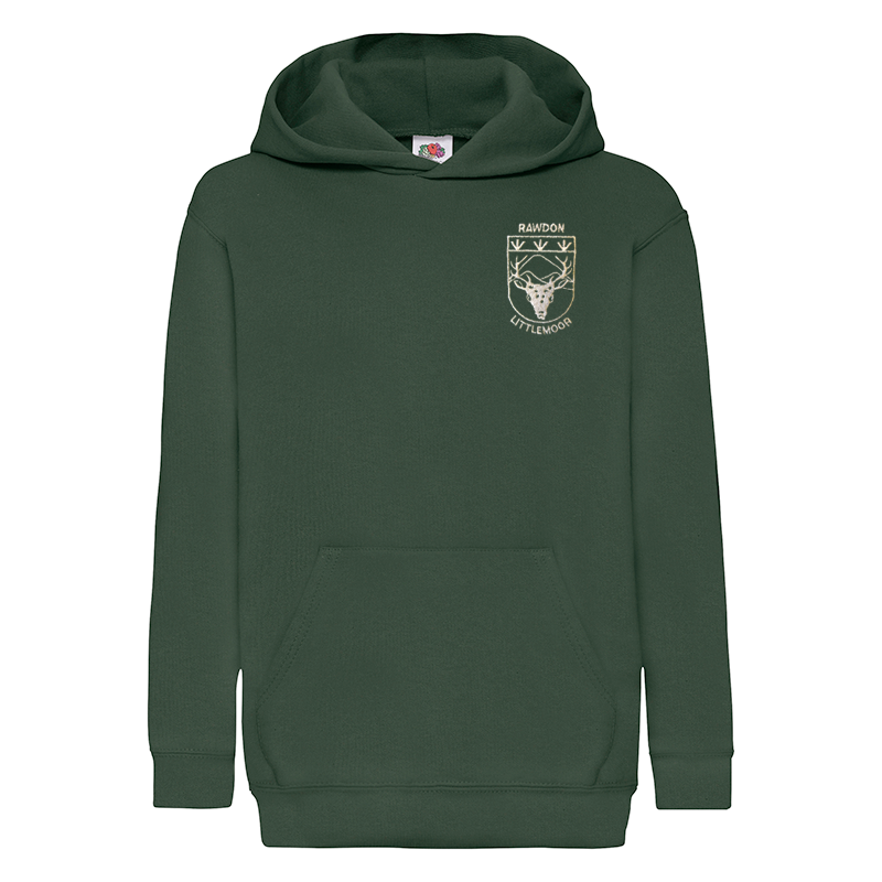 Rawdon Littlemoor Primary Green Hooded Top with Logo