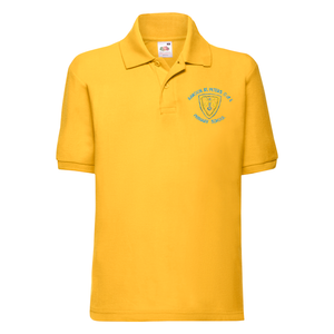 Rawdon St Peters Primary Polo T-Shirt with Logo (Gold)