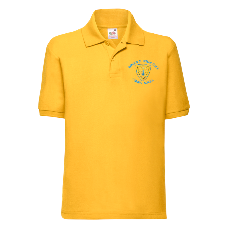 Rawdon St Peters Primary Polo Shirt (Gold With Logo)