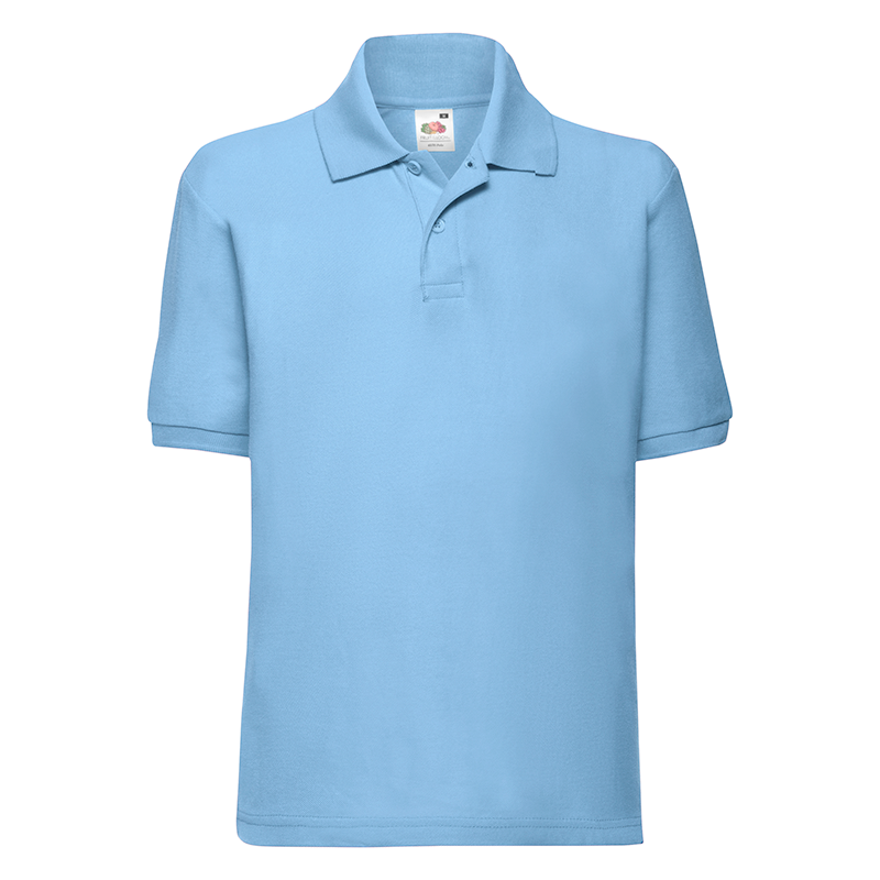 Rawdon St Peters Primary Polo T-Shirt (Sky Blue)