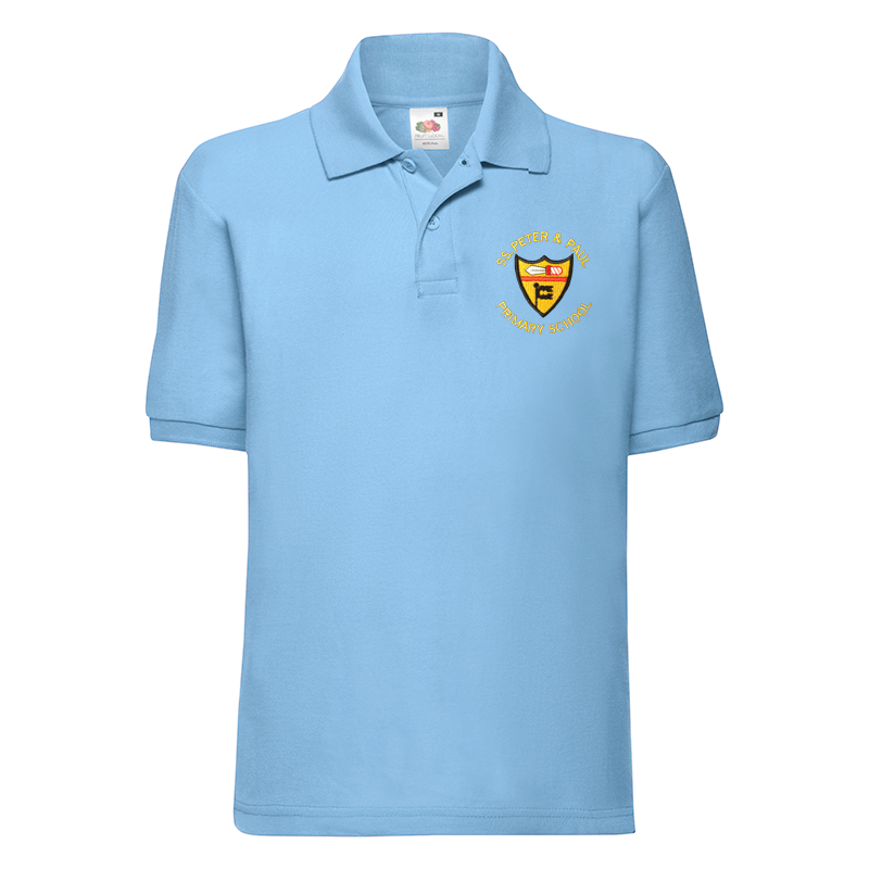 SS Peter & Paul RC Primary Polo T-Shirt with Logo