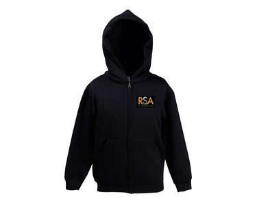 Ripon Stage Academy Junior Black Zip Hoody with Logo