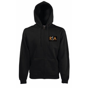 Ripon Stage Academy Mens Black Zip Hoody with logo