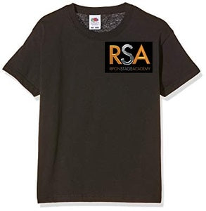 Ripon Stage Academy Mens Black T Shirt with logo