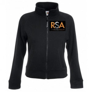 Ripon Stage Academy Ladies Black Zip Sweat Jacket with Logo