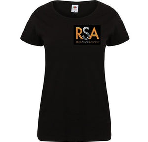 Ripon Stage Academy Ladies Black T Shirt with Logo