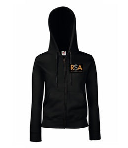 Ripon Stage Academy Ladies Black Zip Hoody with Logo
