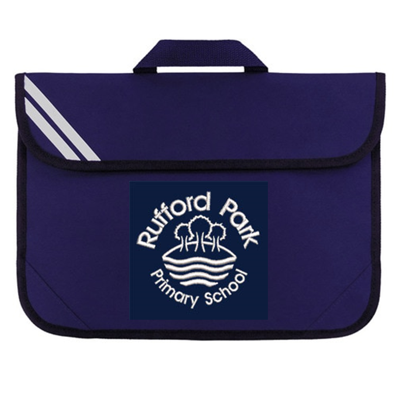 Rufford Park Book Bag with Embroidered School Logo