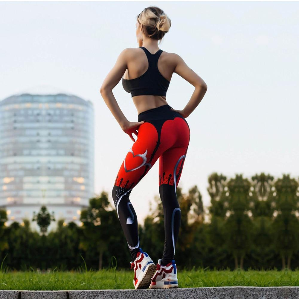 Leggins de sport rouge