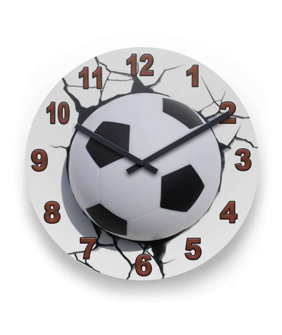 Clocks uniquedesignsore soccer ball clock 11 round wall clock amipublicfo Choice Image