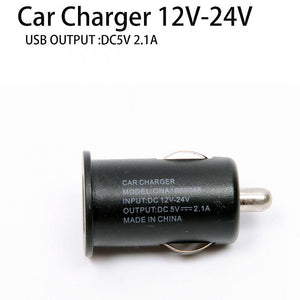 12-24V in Mini 5V 2.1A Universal USB Car Charger Adapter x 2pcs