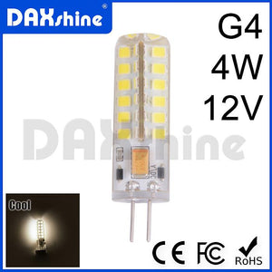 G4 4W 48LED LED Light Bulbs DC12V Cool White 6000-6500K x 5 pcs