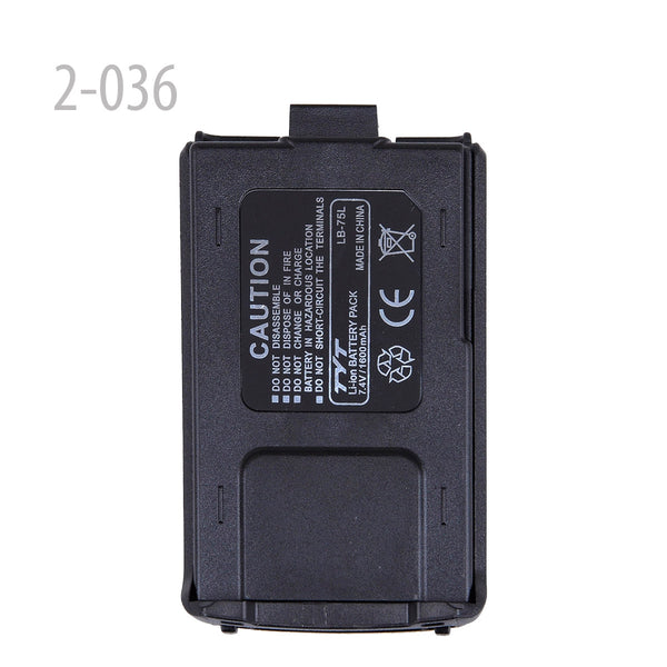 TYT Original Li-ion Battery 7.4V 1600mAh for TH-F8 x 1pc (2-036)