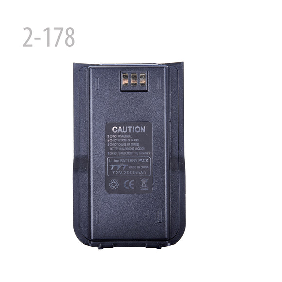 7.2v 2000mAh Li-ion Battery Pack For Tytera(TYT) MD-380