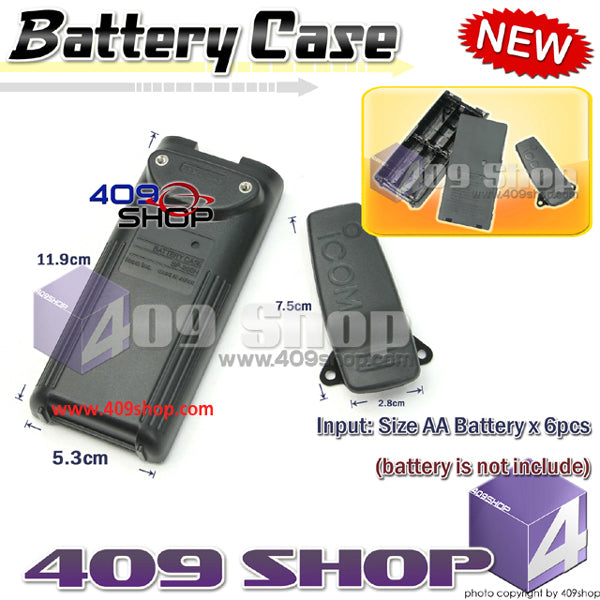 AA battery case for ICOM V8 V82 U82 F11 F11S F21