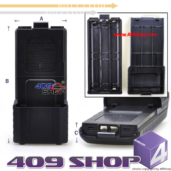 BATTERY CASE (AA x6 ) BL-5L for Baofeng UV-5R UV5RE + FREE Dummy Battery