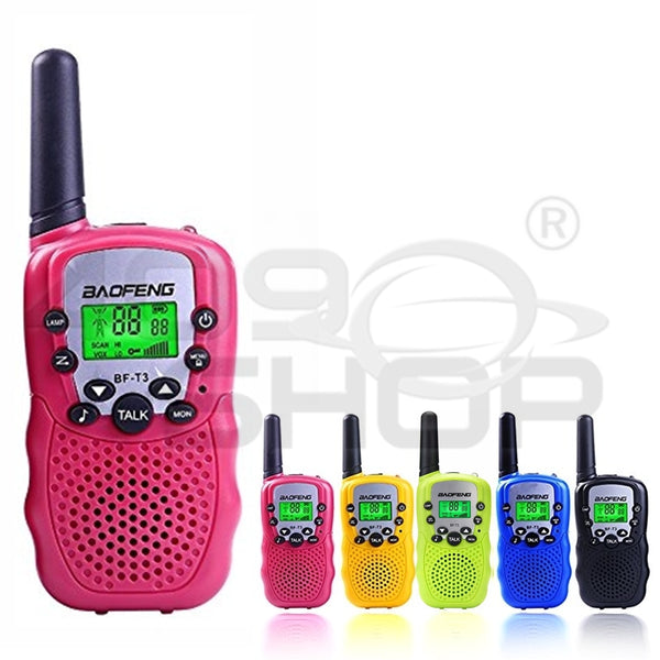 Baofeng BF-T3 Pink Handheld Walkie Talkie UHF Mini Two Way Radio