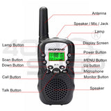 2x Baofeng BF-T3 Black Handheld Walkie Talkie UHF Mini Two Way Radio